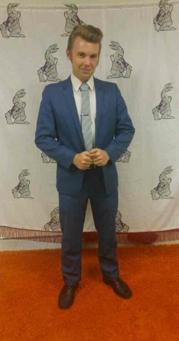 Christian Drake on the orange carpet <3 Photo credit Summi