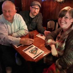 Charlie, Allan and Katy at the matinee