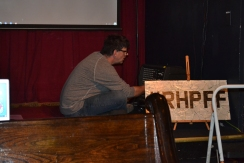 Bill setting up for the matinee