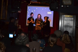 Julie & Lori receiving the Tiny Trees Prize