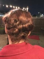 Missy's glam hairdo