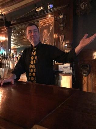 Sean at the bar at Nick's